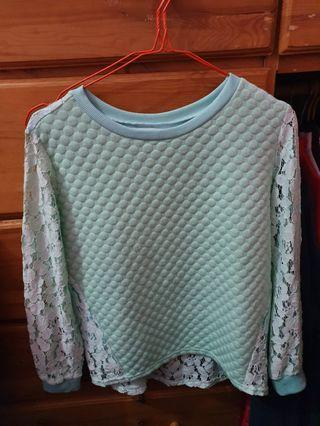 Blouse warna Mint