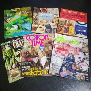 Selling Set of 6 Craft Books - Gift Wrapping, Cards Making, Sewing, Clay