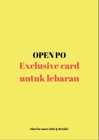 OPEN PRE ORDER KARTU LEBARAN / IDUL FITRI