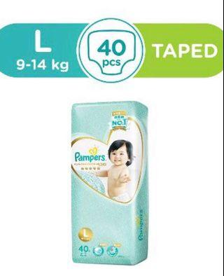 Pampers Premium Care Tape Diapers , M and L, XL size diaper 💯% genuine