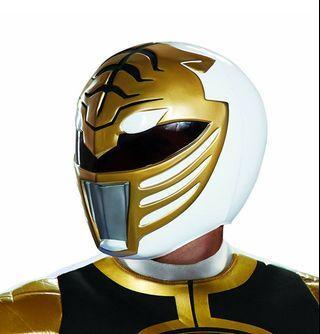 Disguise Men's White Ranger Adult Helmet