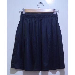 Black Flowy Skater Skirt