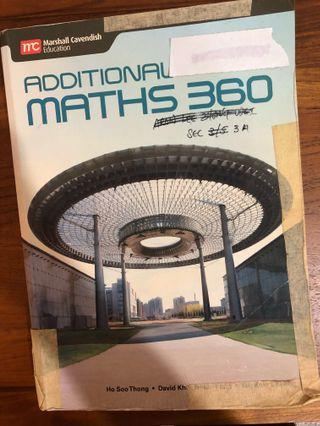 🚚 Additional maths 360 text book by marshall cavendish education