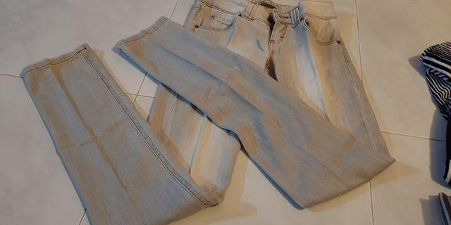 White + Grey Jeans
