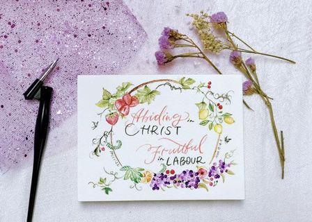 🚚 Custom Watercolor Handpainted Greeting Card