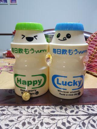 Yakult:Happy&Lucky coin bank