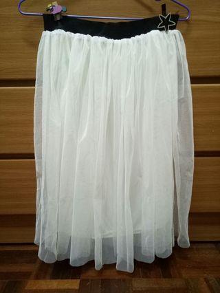 🚚 白色 紗裙