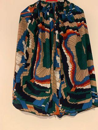 Colourful Knee Length Skirt