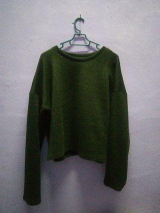 Padini Green Crop Top
