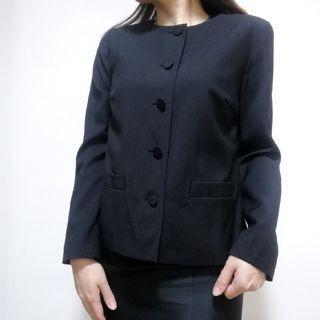 【2hand】Agnes b round-neck blazer 黑色外套