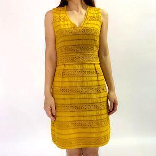 【2hand】Weekend Max Mara yellow summer dress 黃身連身裙