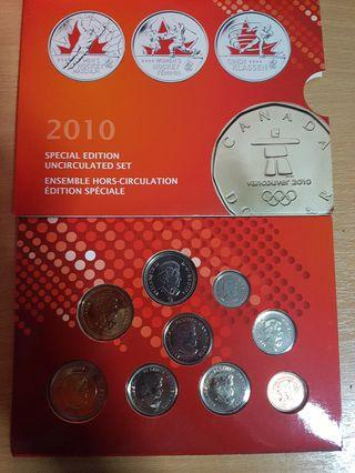 🚚 Vancover 2010 winter olympics special edition coin collection