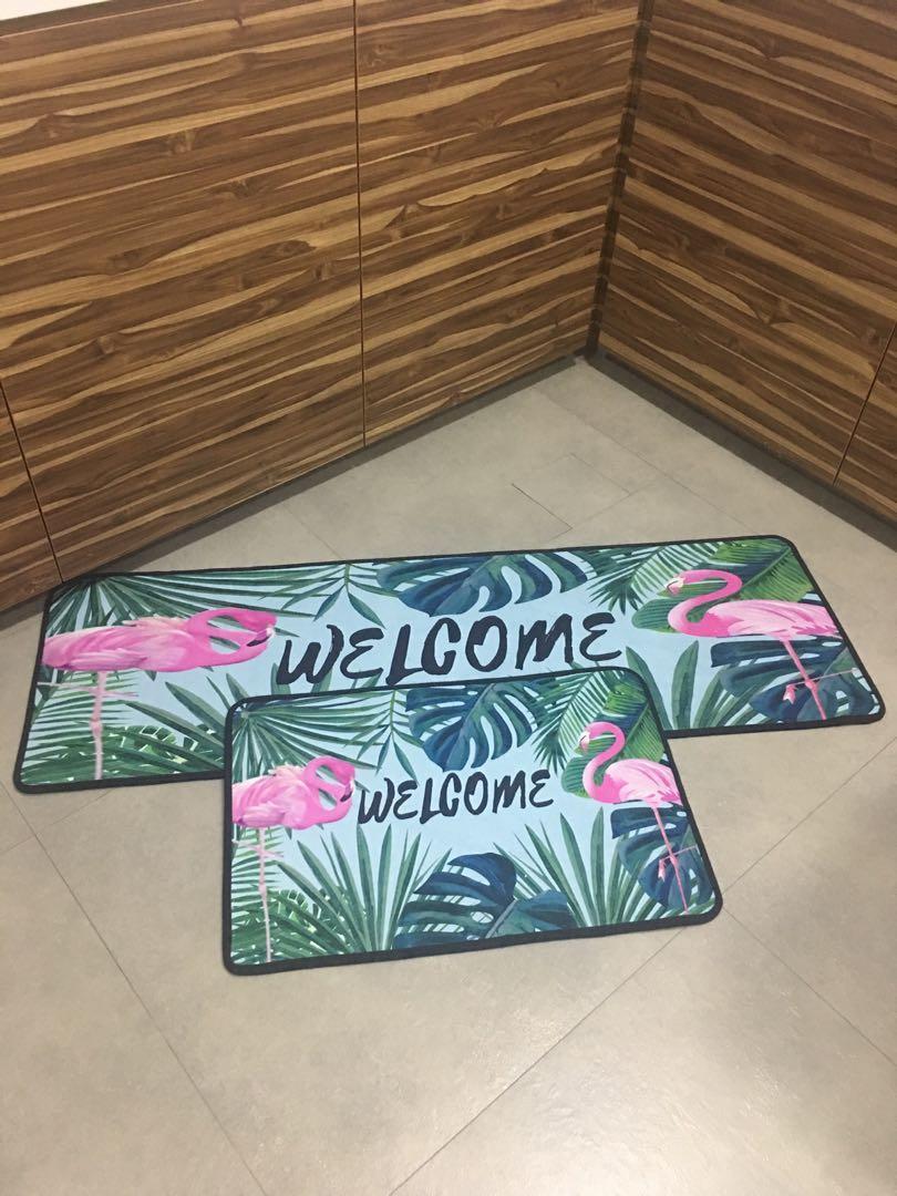 2/pcs set floor / kitchen mat