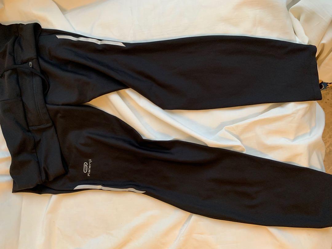 迪卡儂黑色排汗褲