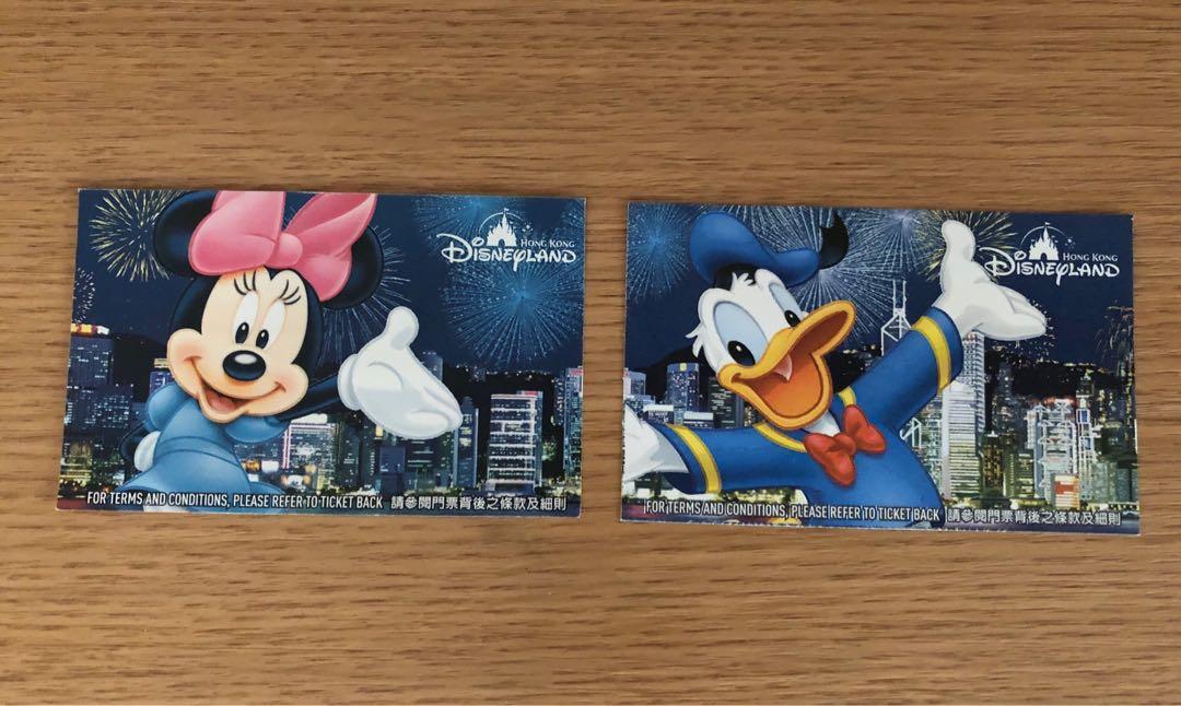 ⚠️不能使用⚠️香港迪士尼樂園 門票 入場券 票尾 Disney Disneyland ticket 舊版 絕版 超過十年前