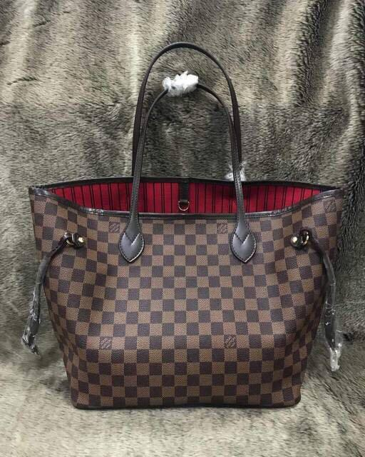 Ada Nomor Seri - Louis Vuitton Neverfull MM 30 Damier - Semi Premium Authentic LV Bag