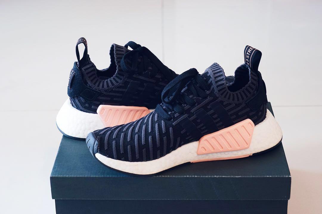 Details about Adidas NMD R2 PK Primeknit Black Pink Womens sizes BA7239