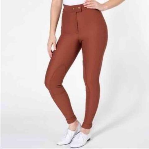American apparel riding pant (Rust/burnt orange, XS)