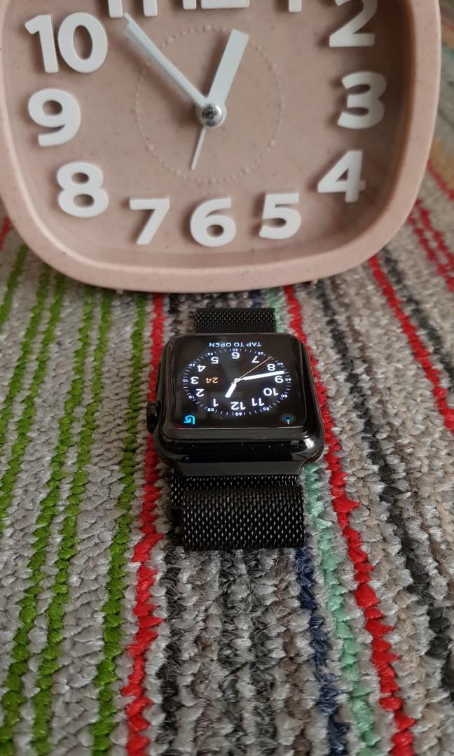 Apple Watch Series 1 42mm Steinless stell Black