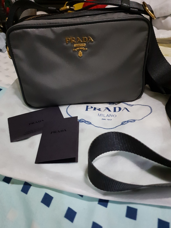 7701de499db2 Authentic Prada Nylon Camera Bag, Luxury, Bags & Wallets on Carousell