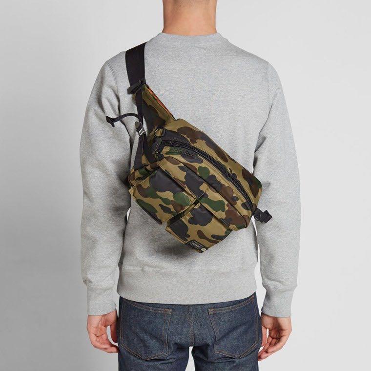 1470195e BAPE X PORTER 1ST CAMO WAIST BAG, Men's Fashion, Bags & Wallets, Sling Bags  on Carousell
