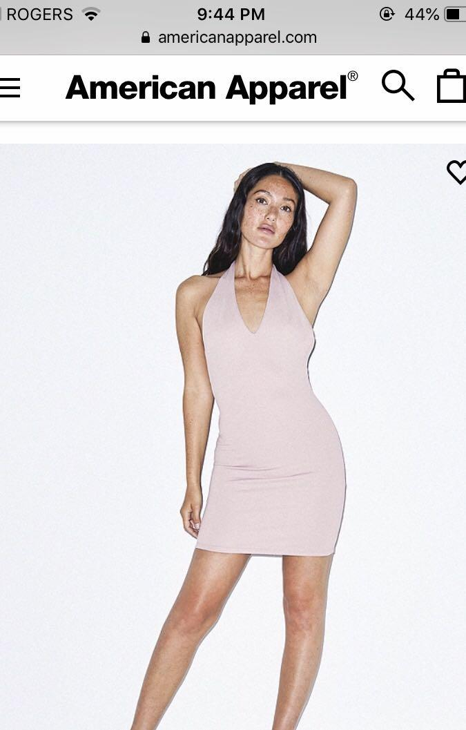 BRAND NEW American Apparel Blush Bodycon Halter Dress