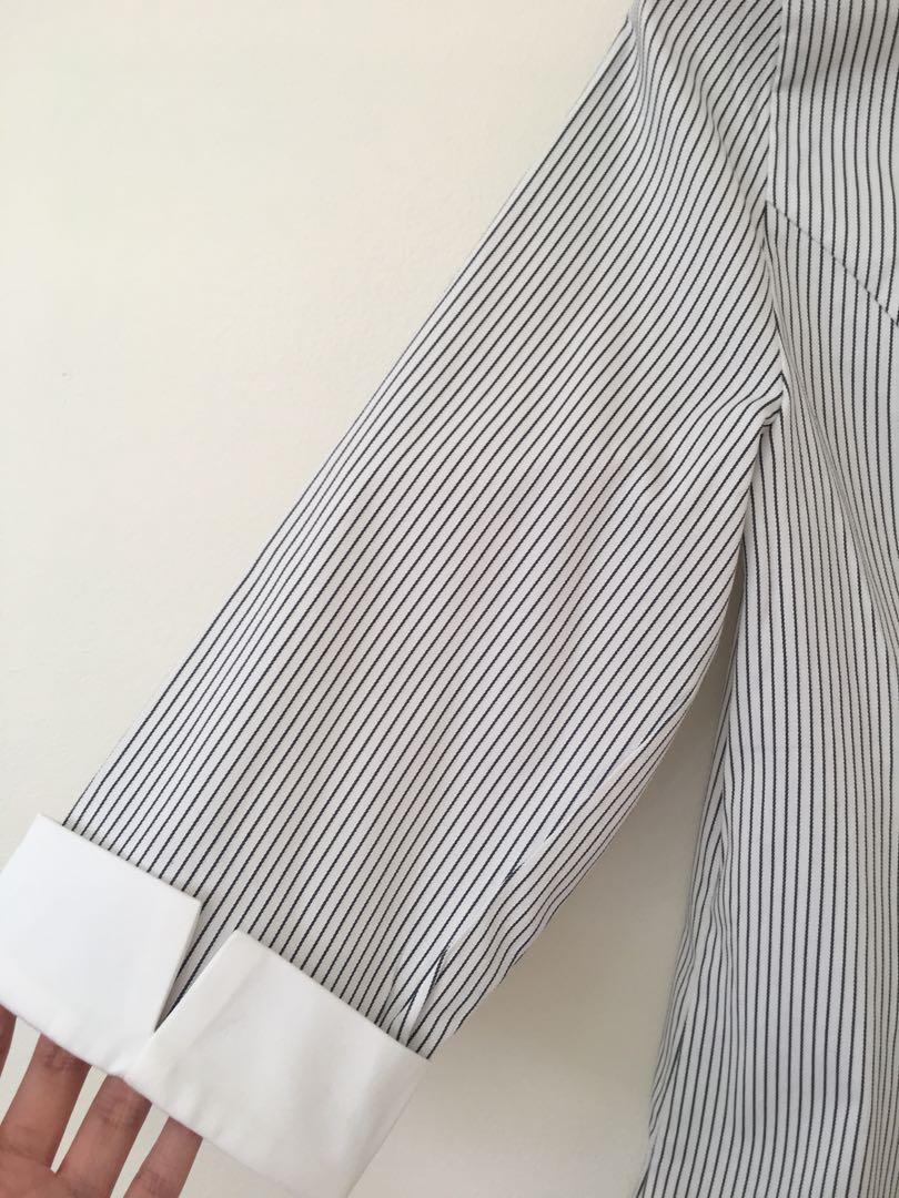 Brand new Portmans striped collar work shirt size 10