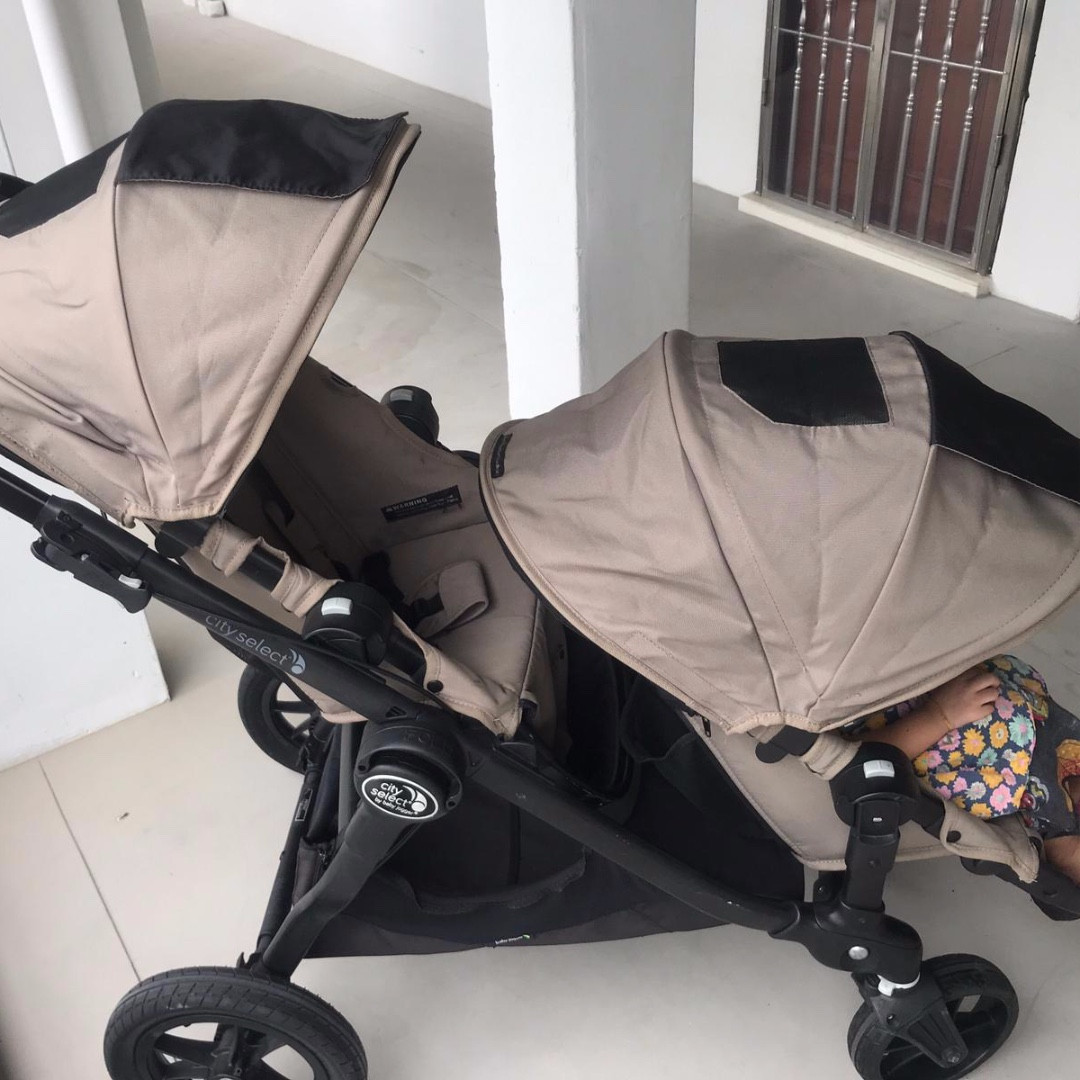 City Select Baby Jogger Double Stroller Twin Seat Only