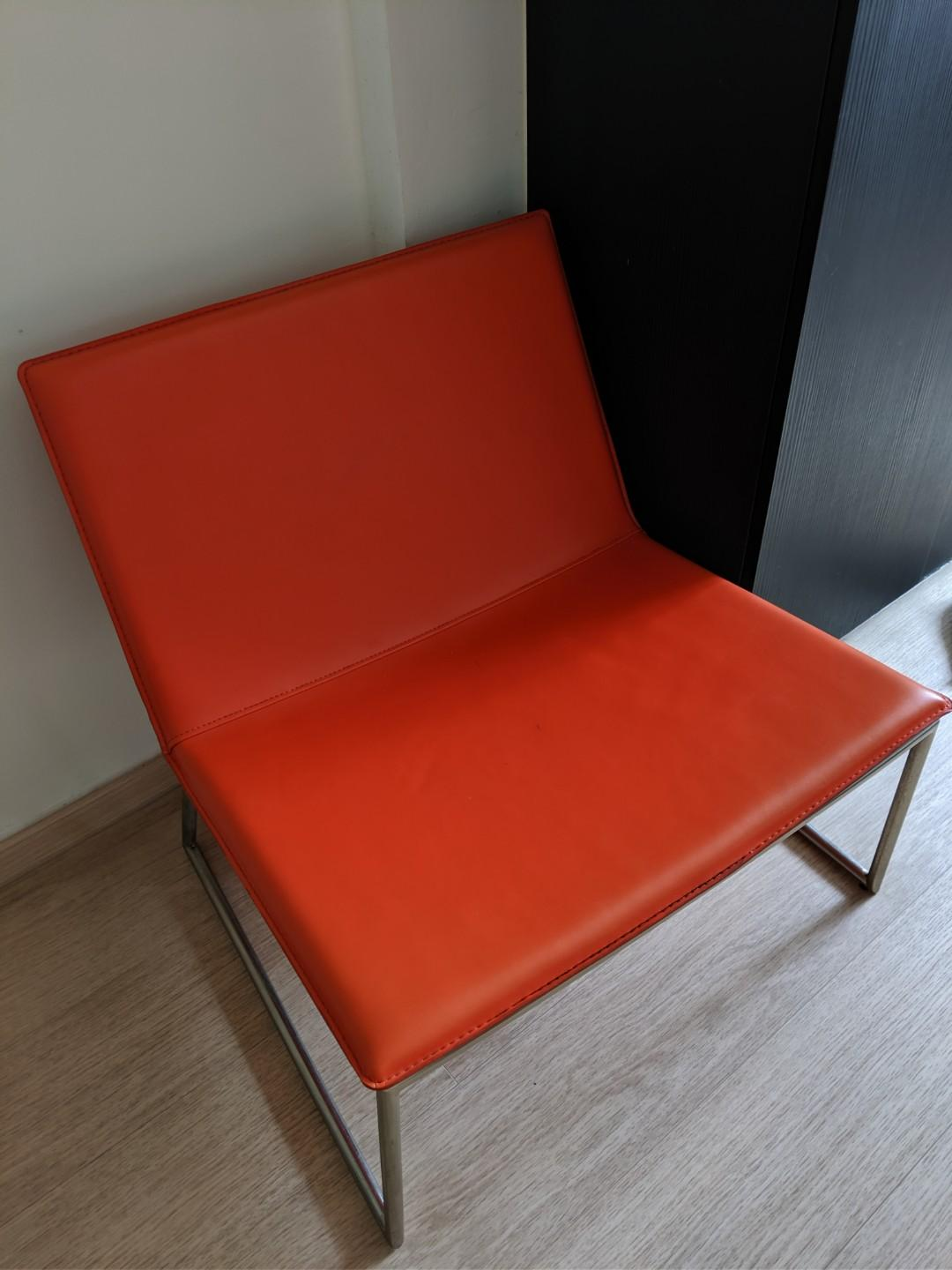 Picture of: Crate Barrel Red Orange Sofa Furniture Sofas On Carousell