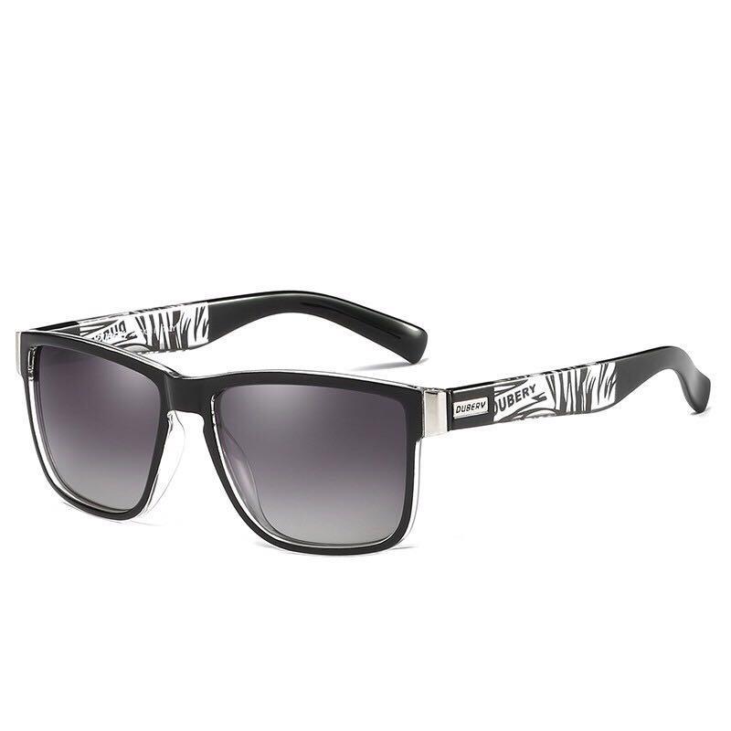 DUBERY Polarized Sunglasses Men's Square Driver Shades Male Sun Glasses For Men