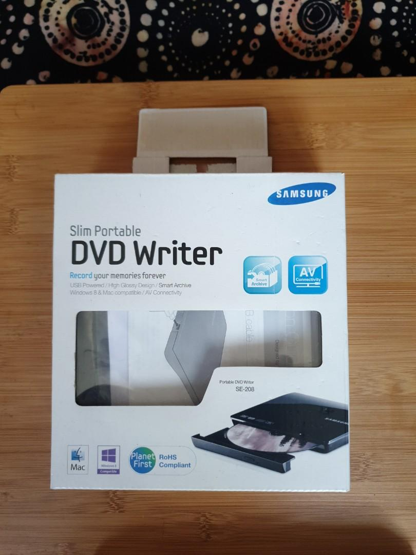 Dvd writer. Slim portable. Samsung