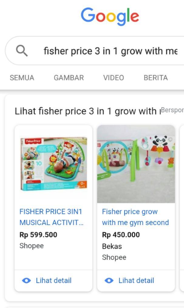 Fisher Price 3 in 1 Jual Murah