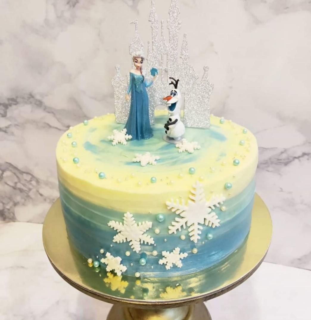 Excellent Frozen Themed Birthday Cake Food Drinks Baked Goods On Carousell Personalised Birthday Cards Paralily Jamesorg
