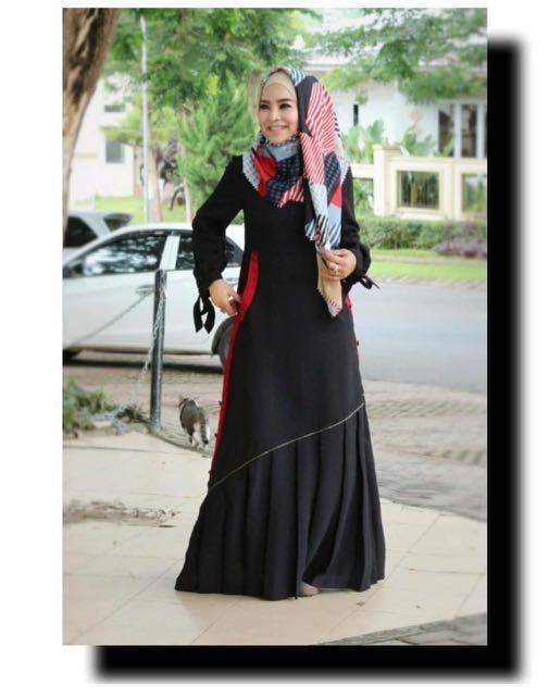 Gamis Shararea Original Fesyen Wanita Muslim Fashion Gaun Di Carousell