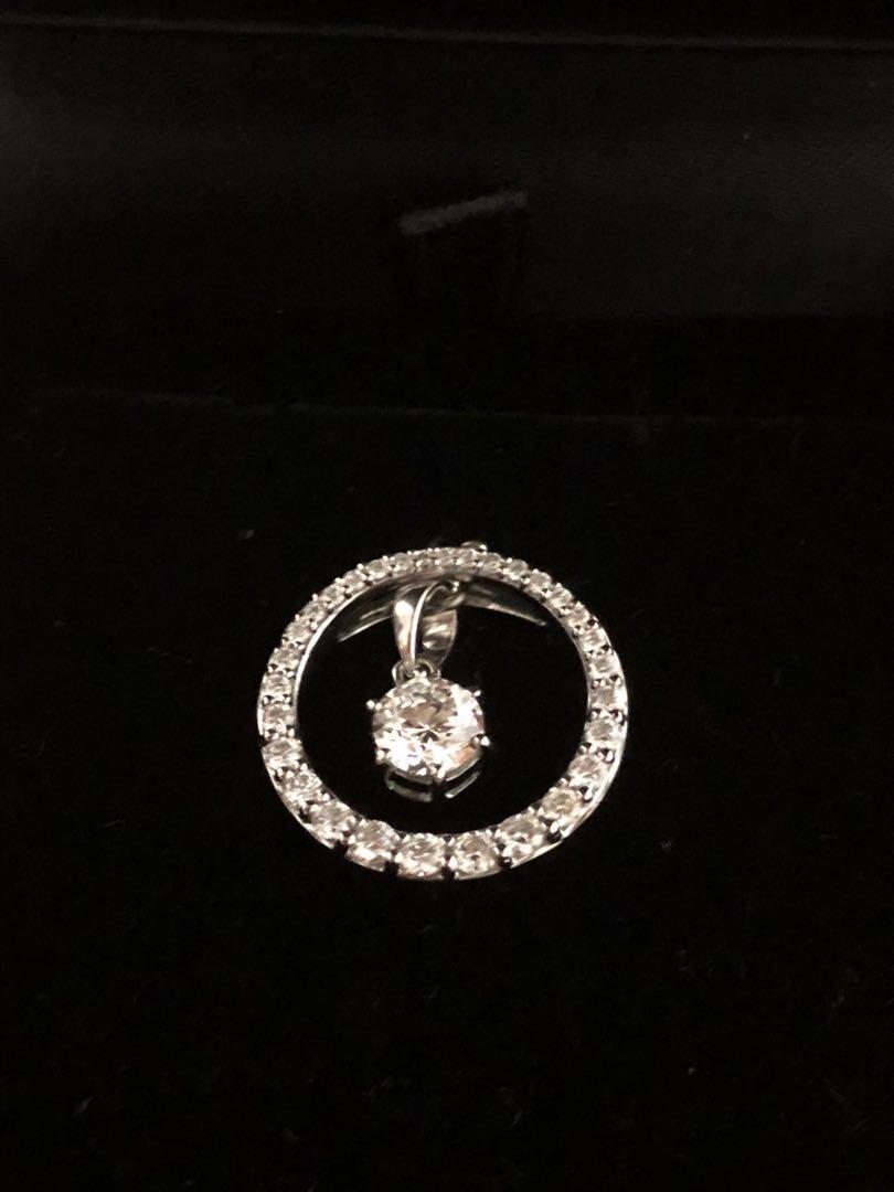 GIA diamond necklace