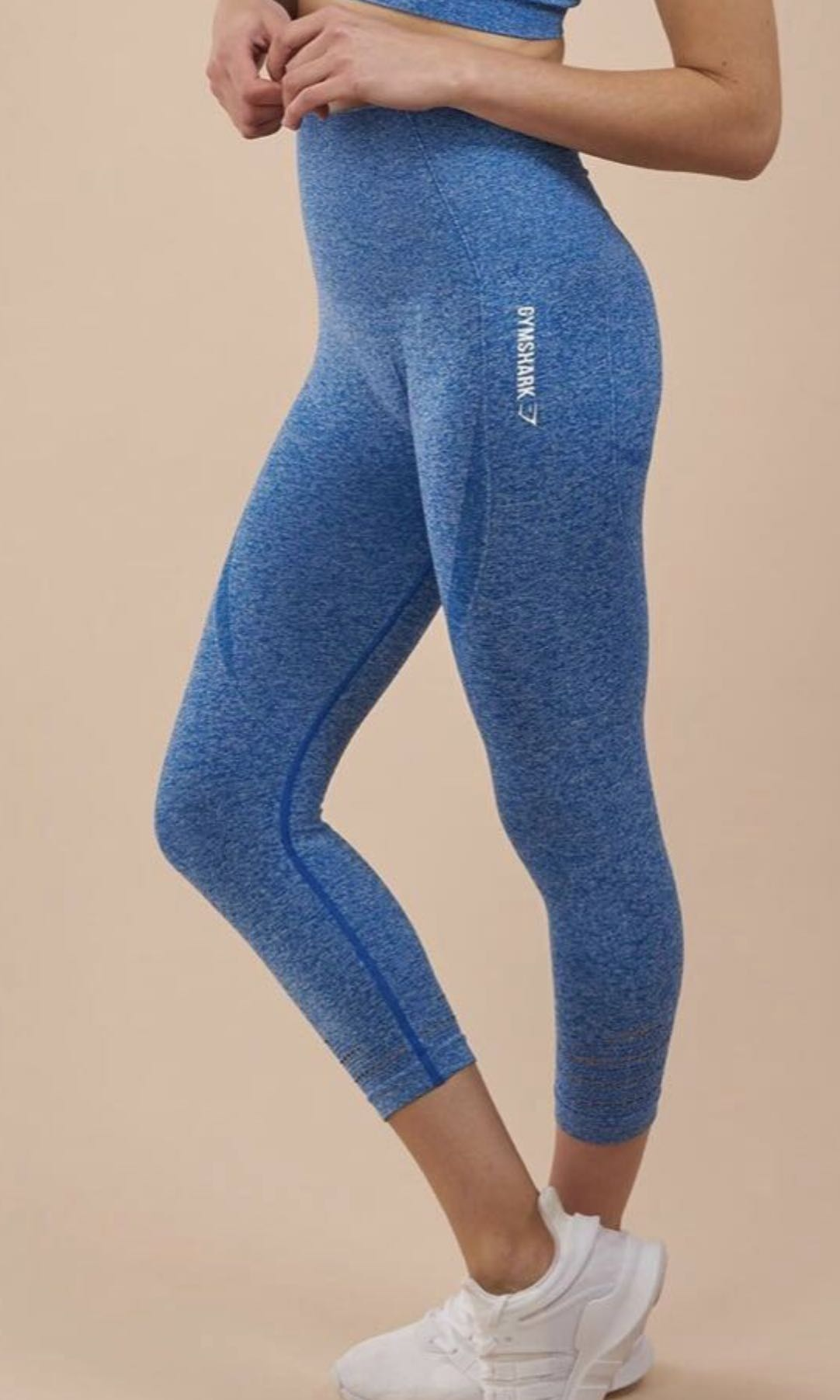 e4ef8955179d8 GYMSHARK Authentic Seamless Leggings Cropped (Blueberry Marl ...