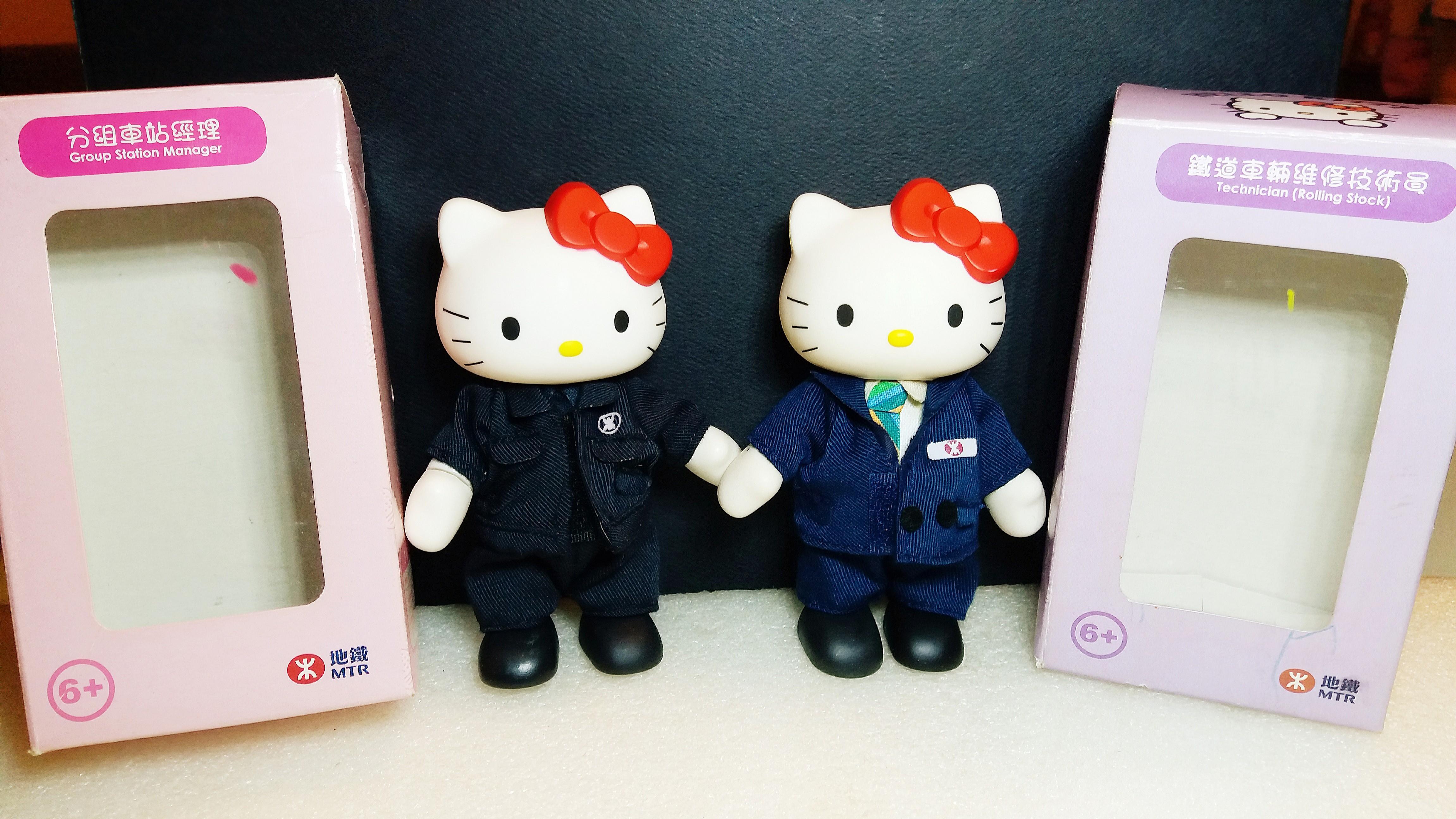 全新中古:Hello Kitty,MTR系列,超過12年,保存良好,全部$128,不散不議,有意pm。