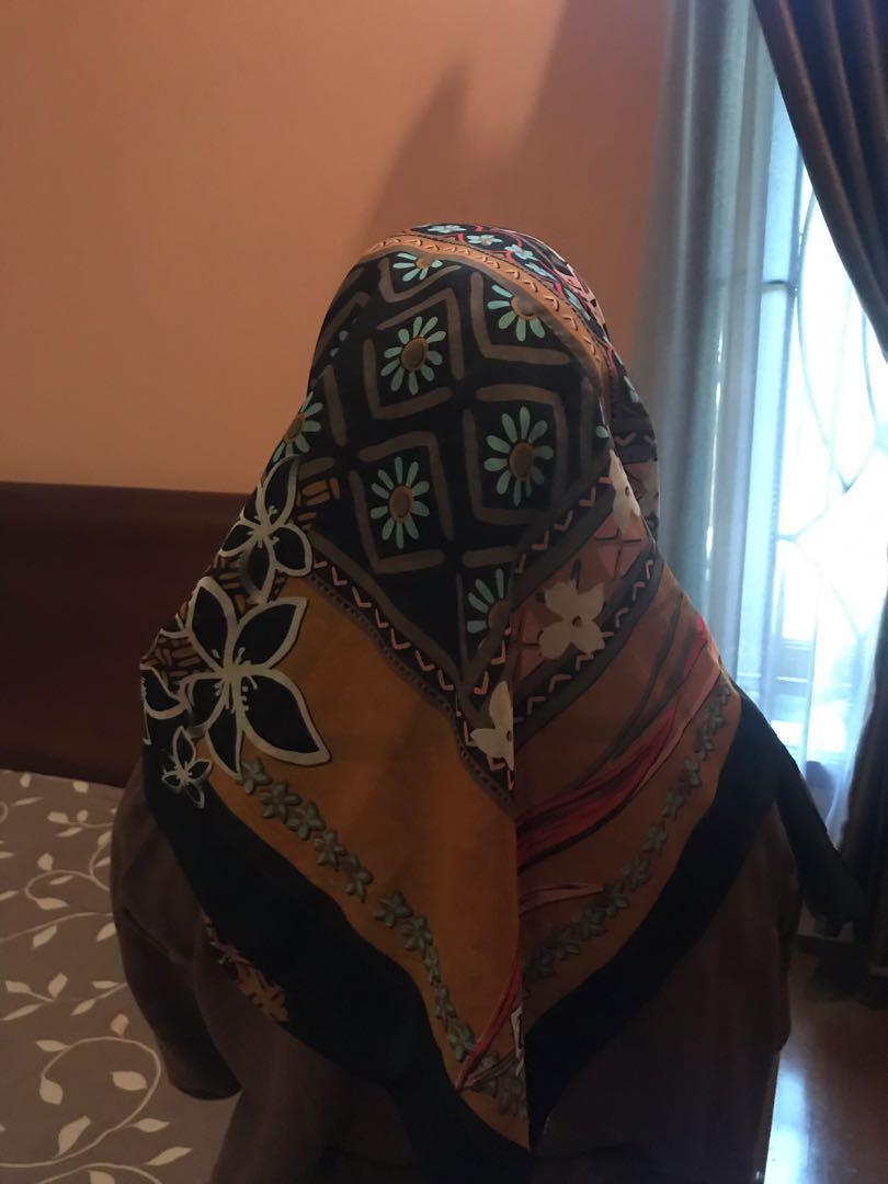 Hijab Motif / jilbab segiempat take all