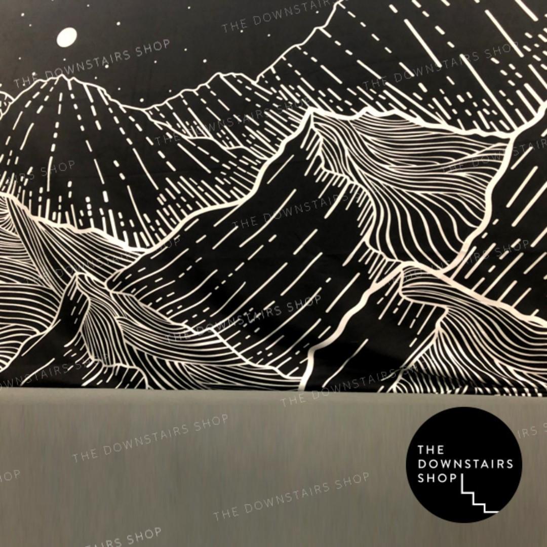 ⚡️[Instock] Magical 'Mountain Nights' Fabric Print Wall Art