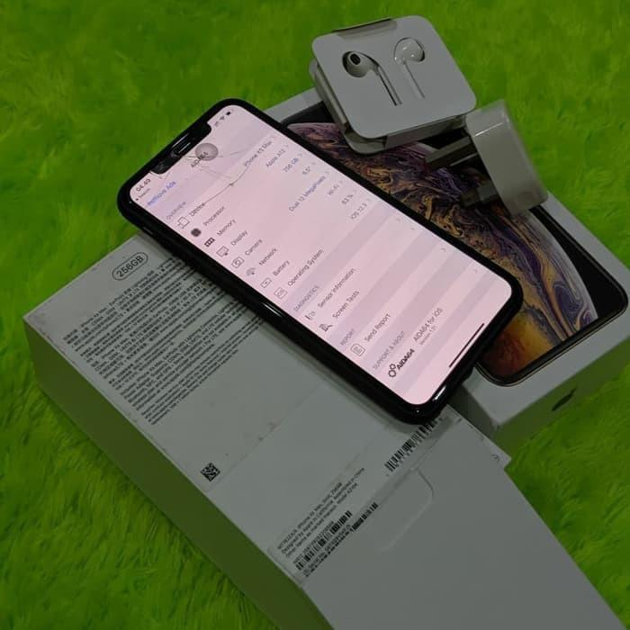 iPhone XS MAX 265GB Silver Preloved Second