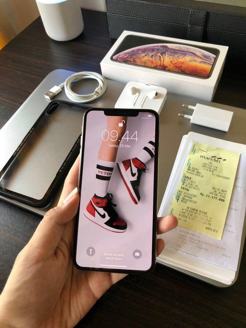 Iphone xs max gold resmi ibox muluss