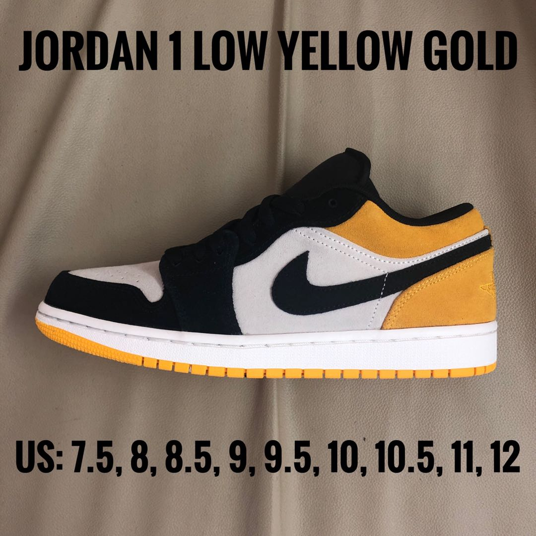 wholesale dealer 3a00f 74179 Jordan 1 Low Yellow Gold