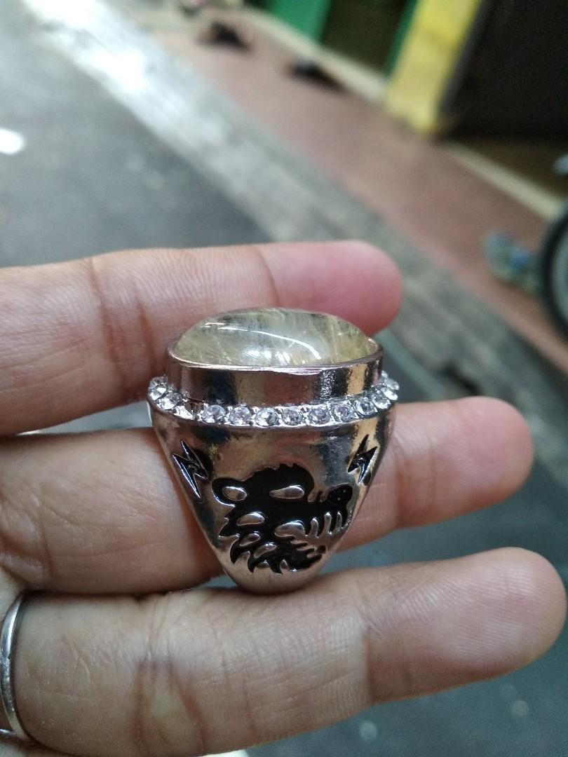 Jual cincin natural batu rambut cendana
