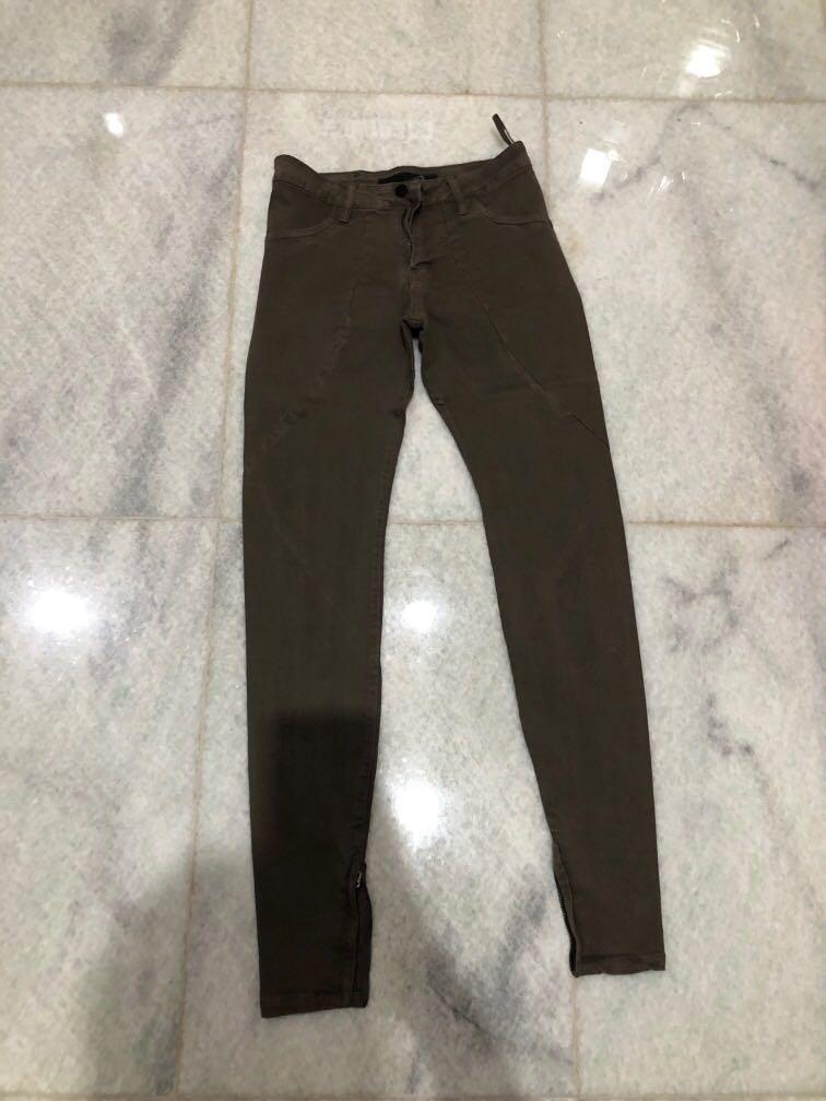 Khaki/Brown Very Skinny Jeans size 25/26