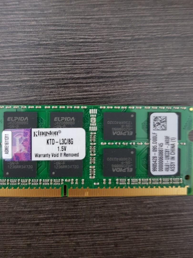 Laptop Kingston DDR3 RAM 8GB