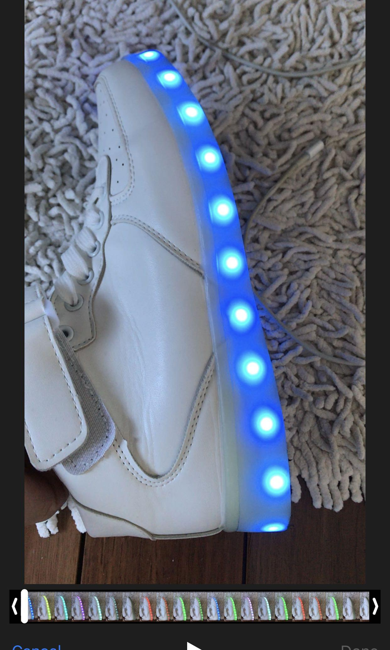 Light up sneakers white sneakers + charging cable size 38