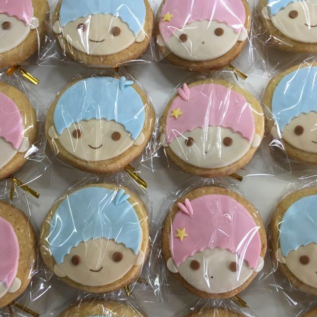 Little Twin Star Fondant Cookie