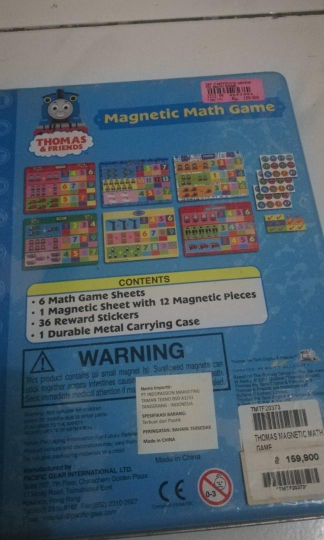 Magnetic math game - Game magnet matematik