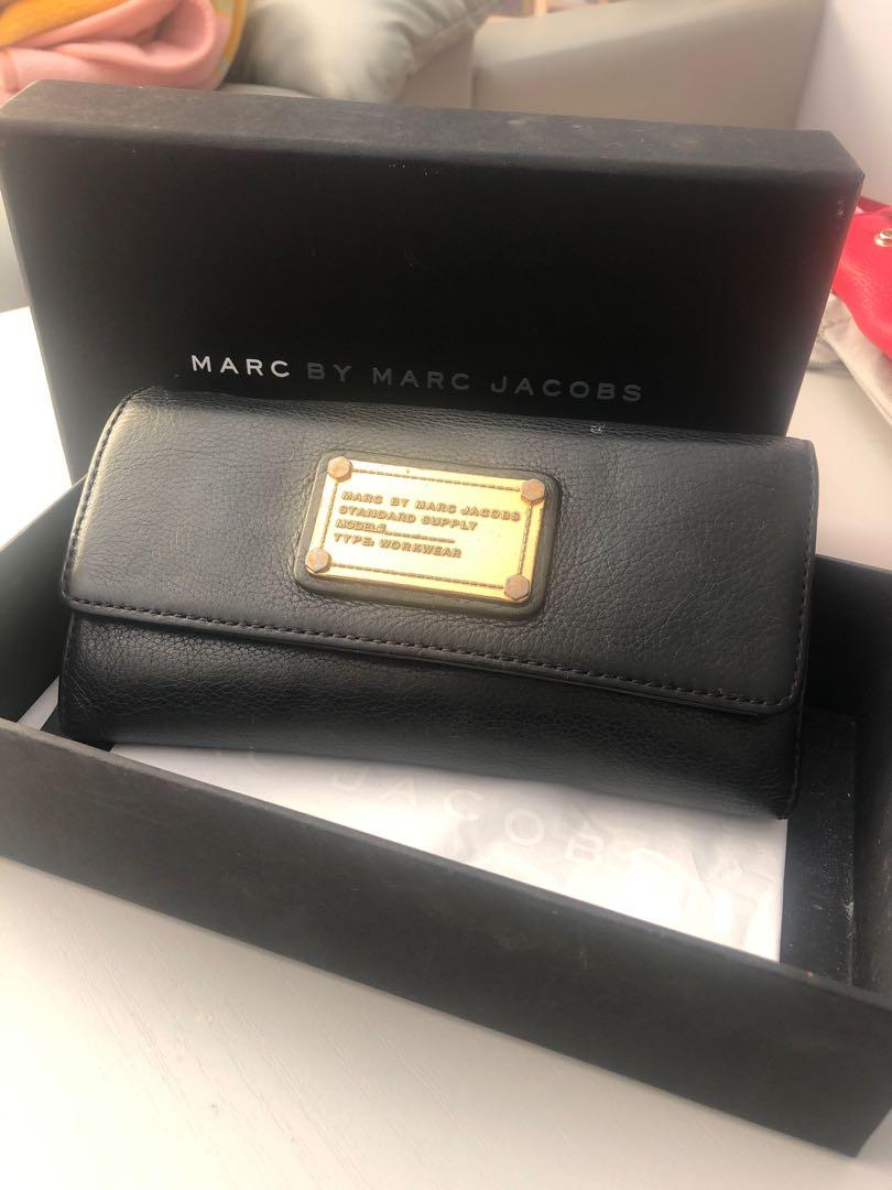 Marc by Marc Jacobs genuine black leather wallet