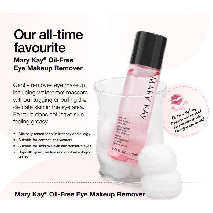Mary Kay Oil Free Makeup Remover Ings